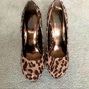Sexy Leopard Print Platform High Heels